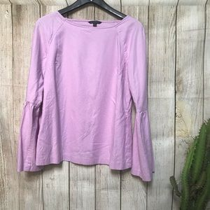 Banana Republic Light Lavender Bell Sleeve Blouse